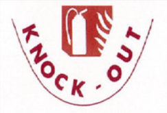 ko, knock out, sécurité incendie logo, logo, rouge, red, extincteurs